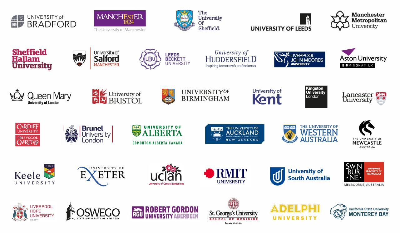 لیست کنسرسیوم دانشگاه های همکار NCUK