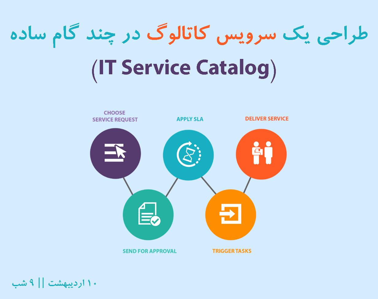 وبینار رایگان طراحی یک سرویس کاتالوگ در چند گام ساده (IT Service Catalog)