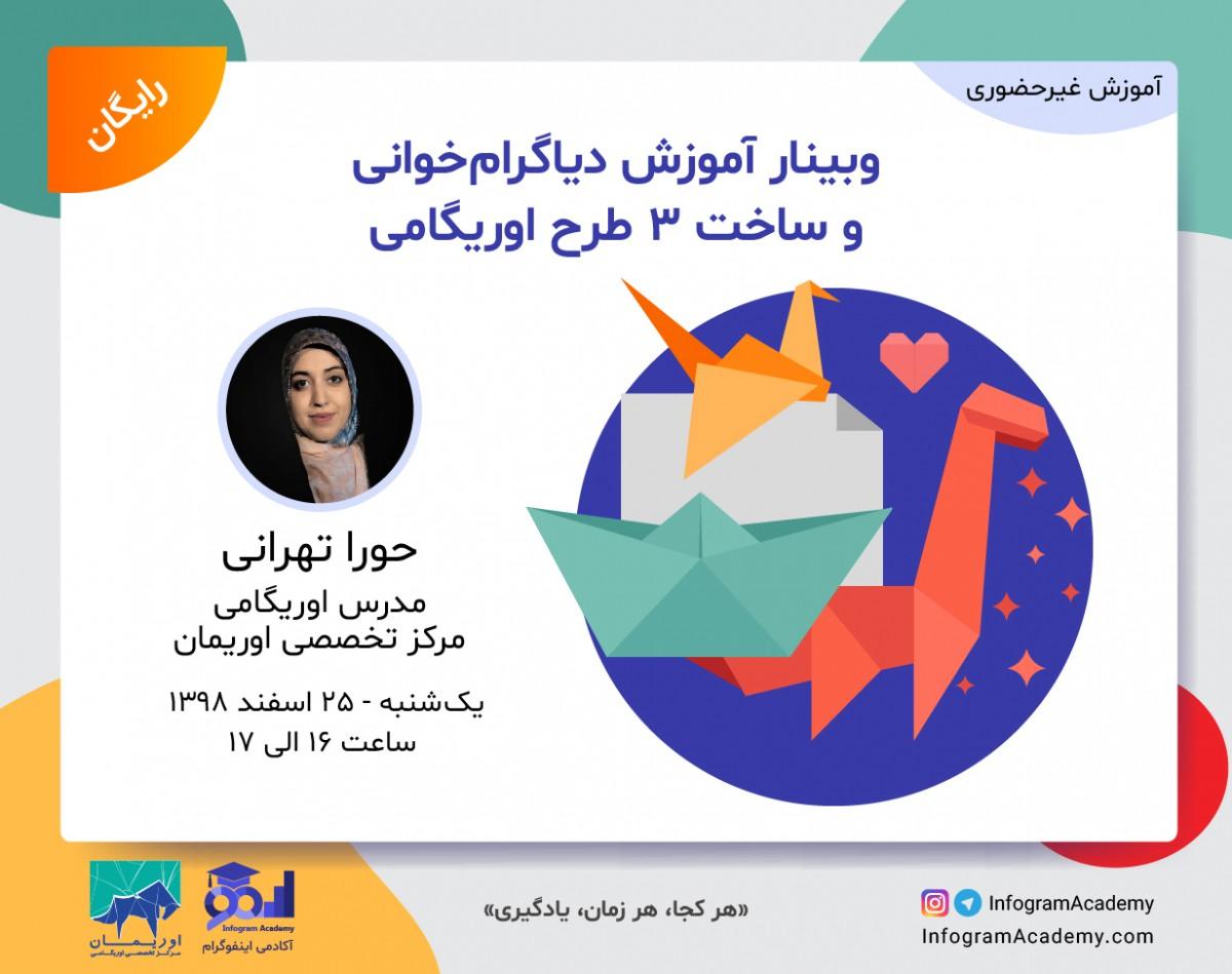 وبینار آموزش دیاگرام خوانی و ساخت 3 طرح اوریگامی