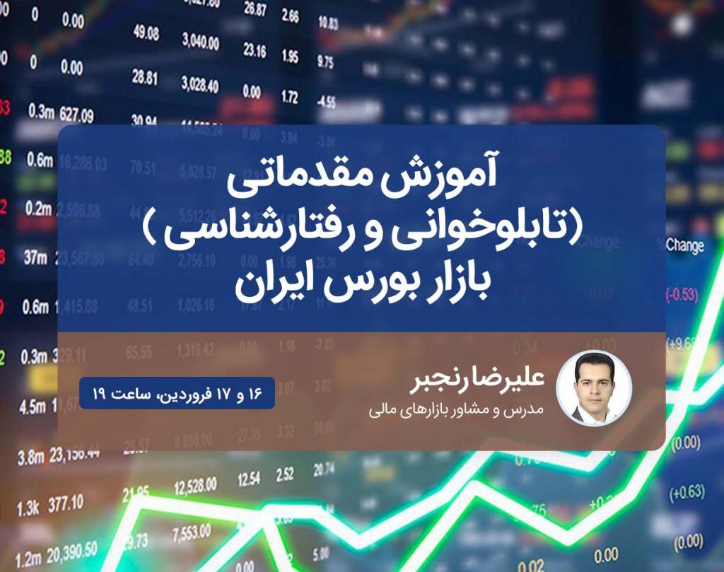 وبینار مقدماتی (تابلوخوانی و رفتارشناسی ) بازار بورس ایران
