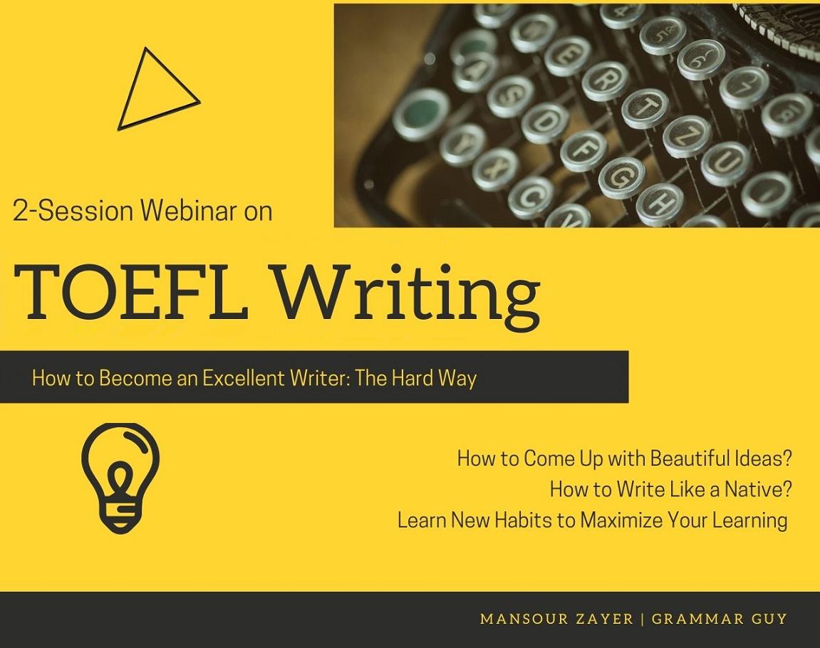 کارگاه ۲جلسهای TOEFL Writing - مسیر Self-Study