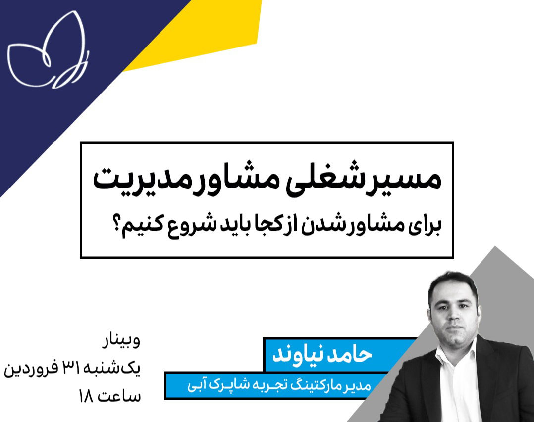 وبینار مسیر شغلی مشاور مدیریت