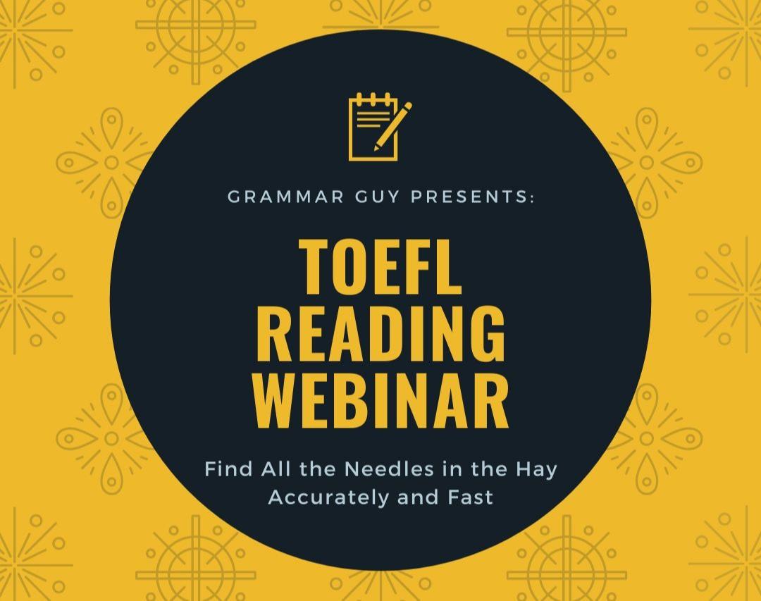 وبینار کارگاه تخصصی Toefl Reading - از صفر تا شخمزنی