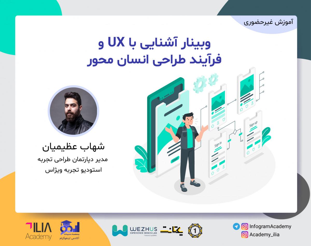 وبینار آشنایی با UX و فرآیند طراحی انسان محور