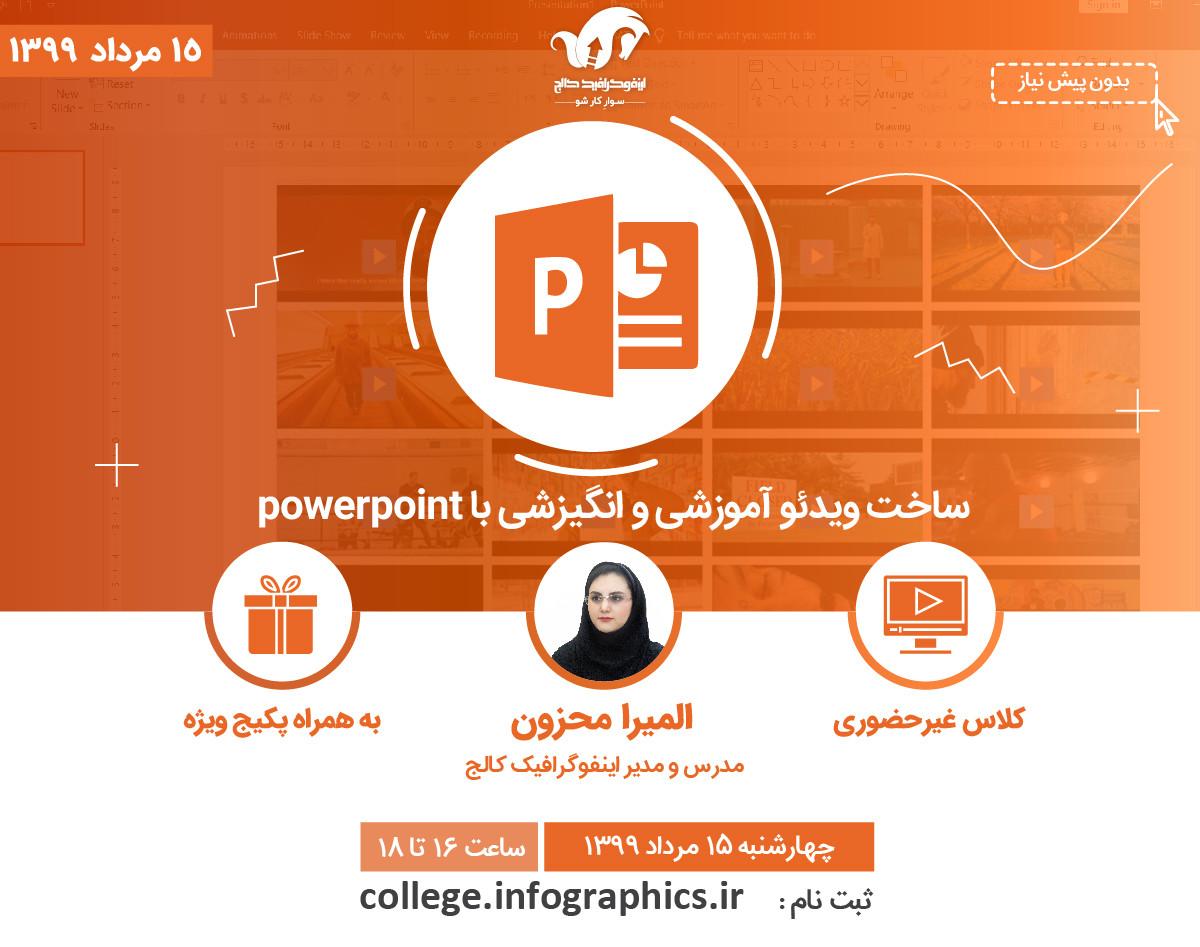 وبینار ساخت ویدئوی آموزشی و انگیزشی با پاورپوینت (powerpoint)