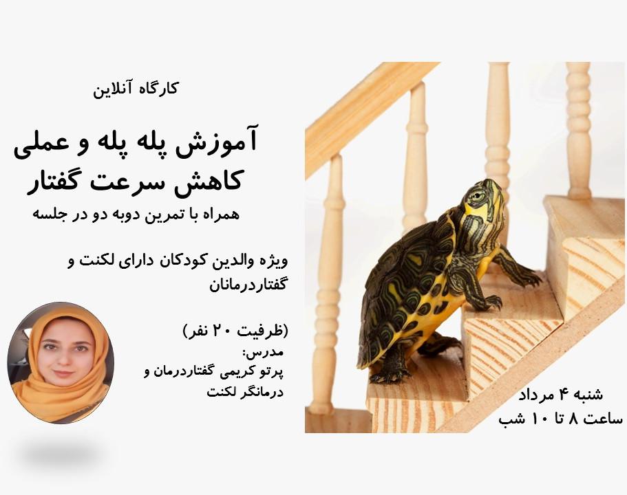 وبینار آموزش پله پله و عملی کاهش سرعت گفتار