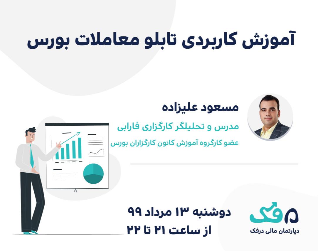 وبینار آموزش کاربردی تابلو معاملات بورس