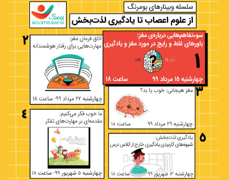 وبینار سوءتفاهمهایی دربارهی مغز: باورهای غلط رایج در مورد مغز و یادگیری