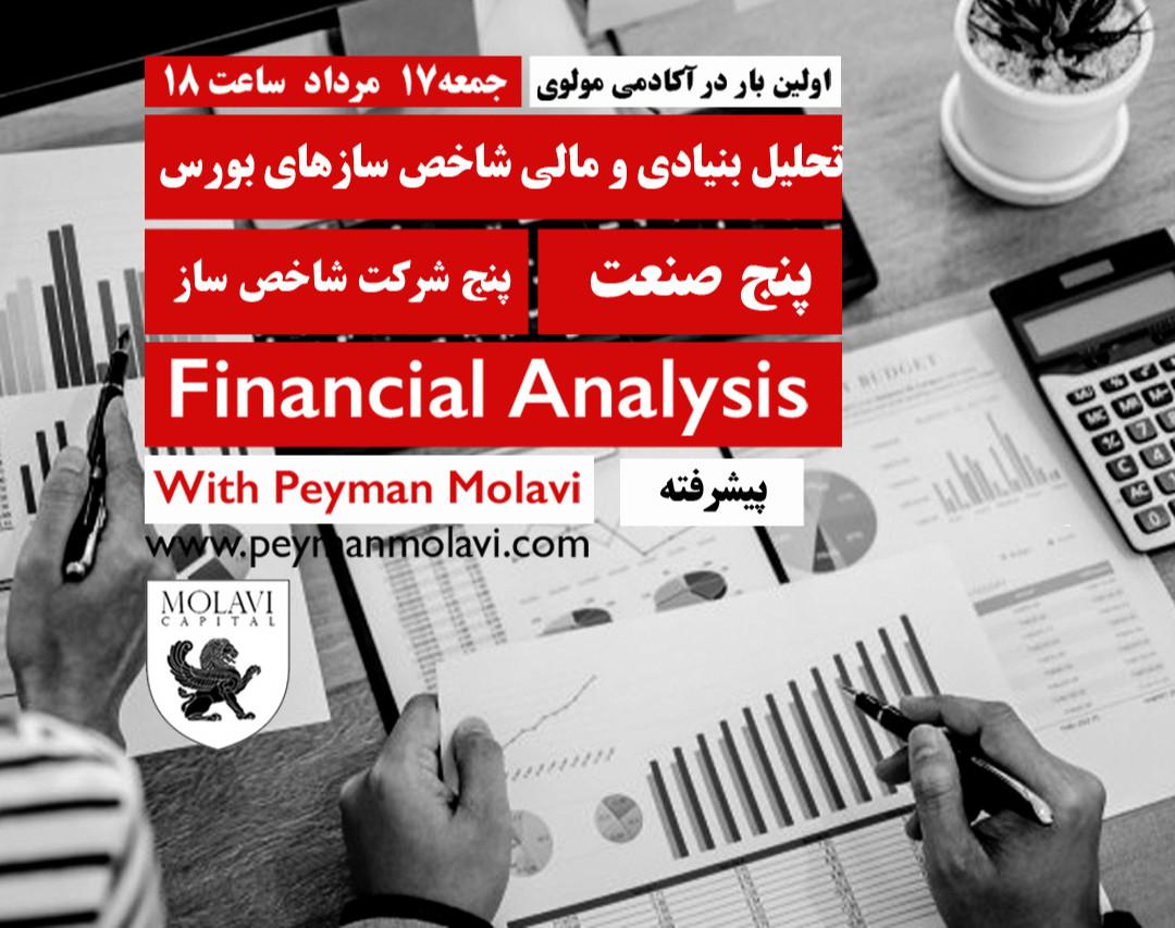 وبینار تحلیل بنیادی و مالی شاخص سازهای بورس (پنج صنعت) (پنج شرکت شاخص ساز)