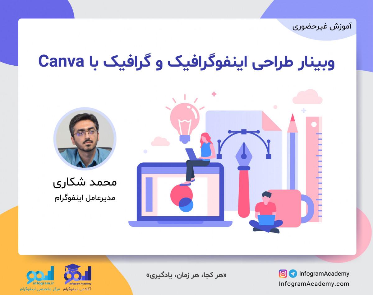 وبینار طراحی اینفوگرافیک و گرافیک با Canva
