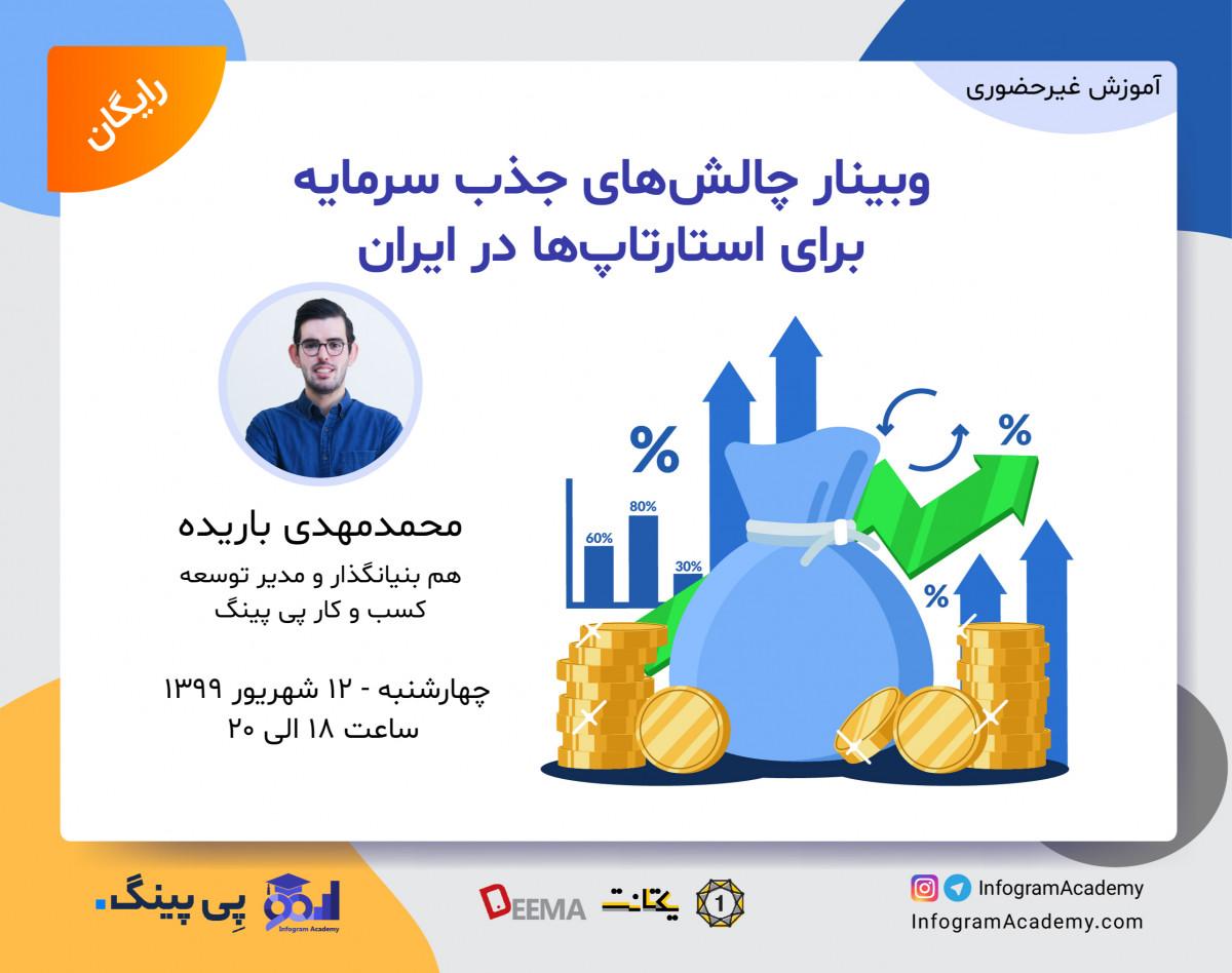 وبینار چالشهای جذب سرمایه برای استارتاپها در ایران