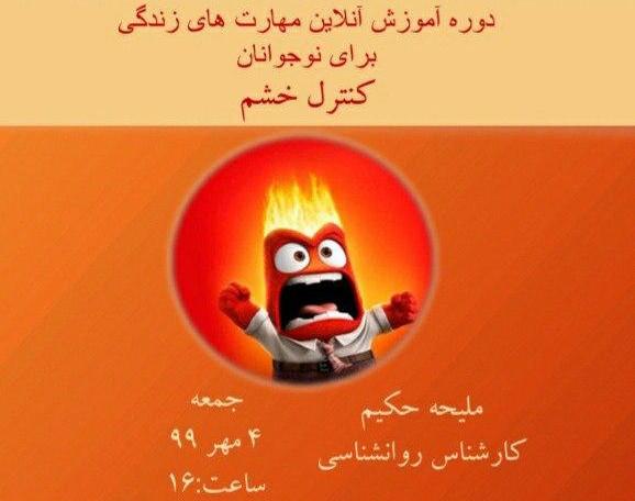 وبینار دوره آموزشی مهارت های زندگی برای نوجوانان (شامل ۱۲ مهارت) : کنترل خشم