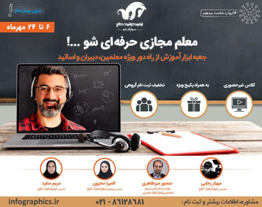 وبینار معلم مجازی حرفهای شو...!