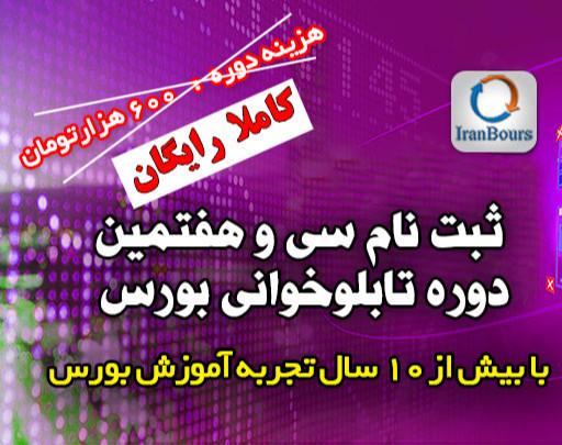 """وبینار آموزش رایگان سی و هفتمین دوره""""تابلوخوانی بورس ایران"""""""