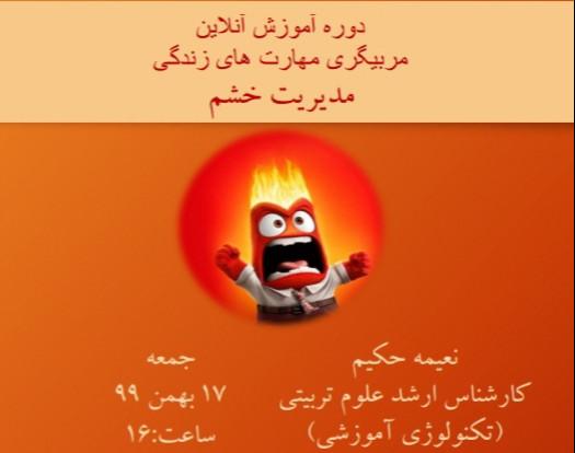 دوره آموزشی مربیگری مهارت های زندگی( شامل ۱۲ مهارت) : مدیریت خشم