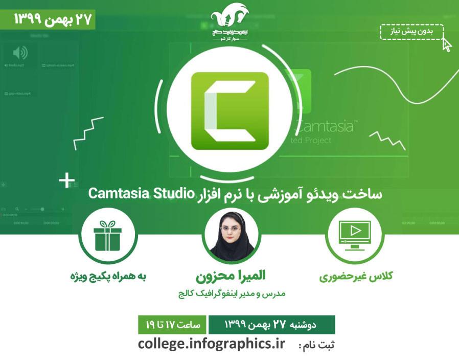 وبینار ساخت ویدئو آموزشی با نرم افزار Camtasia Studio