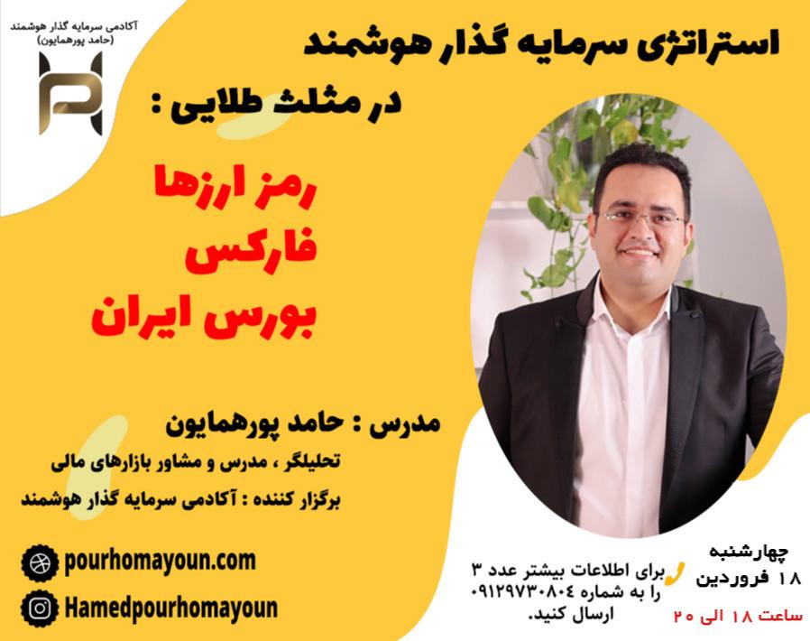 وبینار استراتژی سرمایه گذار هوشمند در مثلث طلایی ارزهای دیجیتال فارکس بورس ایران