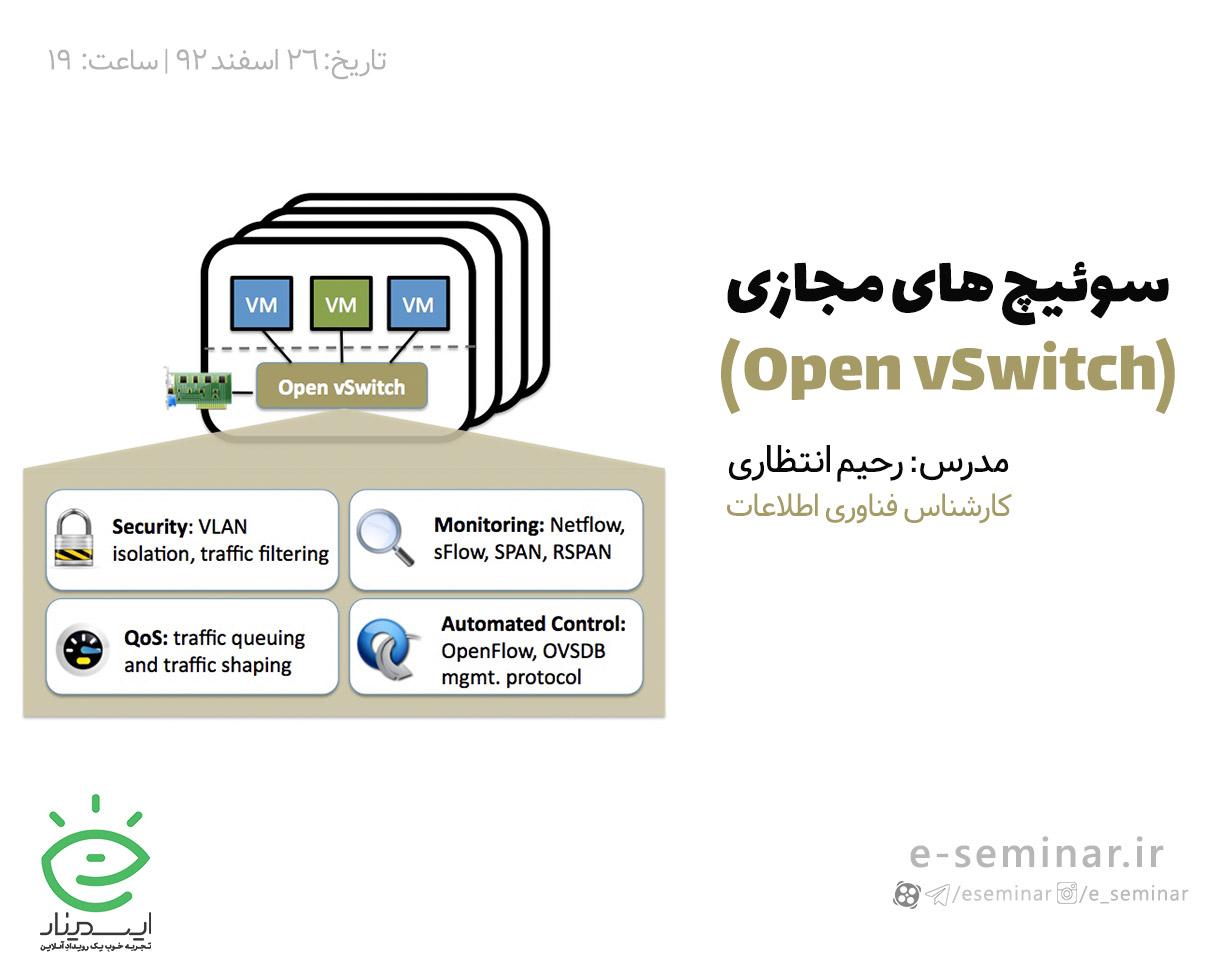 وبینار رایگان سوئیچ های مجازی (Open vSwitch)