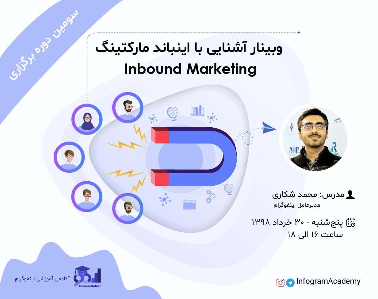 سومين وبینار آشنایی با اینباند مارکتینگ (Inbound Marketing)